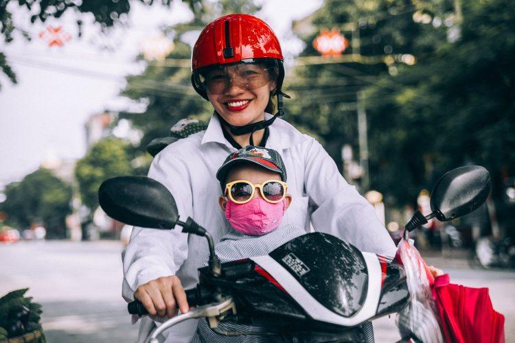 voyage moto enfant